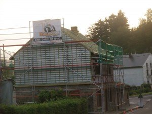 Bardage et toiture en ardoises naturelles à Lierneux